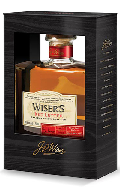 Wiser s red letter whisky corporate visuals inc